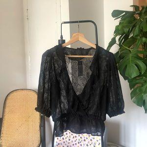 Petite blouse noire